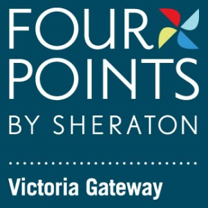 Four Points Logo (blue background)